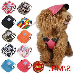 Pet Dog Baseball Cap Sports Travel Windproof Sun Hats for Sm