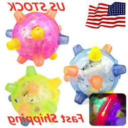 Pet Dog Cat Flashing Ball Toy For Games LED Pet Play Chew To