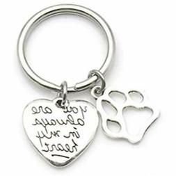 Pet Dog Memorial Keychain You Are Always In My Heart Sympath
