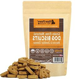 Raw Paws Pet Grain Free Bacon & Cheddar Cheese Dog Biscuits,