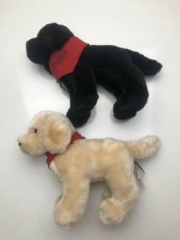 DOUGLAS PLUSH DOGS UNIQUE AND MATCHING- Both With Bandanas