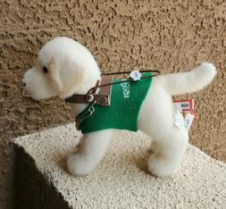 Douglas plush guide dog for the blind yellow lab NEW