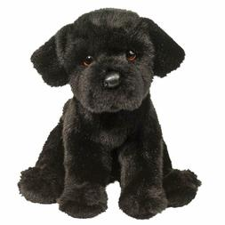 "Douglas Plush Whittaker 9"" black lab Stuffed Animal toy dog"