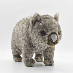 """Posable Wombat Toy Reproduction by Hansa, 15"""" long"""