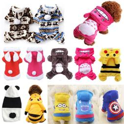 Puppy Pets Winter Warm Clothes Cute Hoodie Coat Jacket Cloth