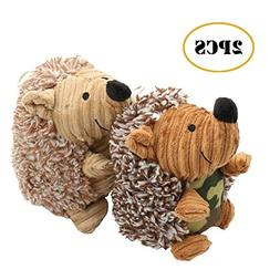 OEXEO Puppy Toys,2 Pack Pet Squeaky Toys Stuffed Plush Hedge