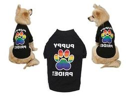 RAINBOW PUPPY PRIDE SHIRTS for DOGS Colorful Paw Equality Su