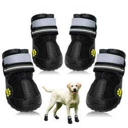 Reflective Dog Shoes for Large Dogs Waterproof Rubber Rain S