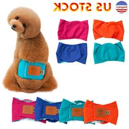 Reusable Washable Dog Puppy Diapers Belly Bands For Male Dog