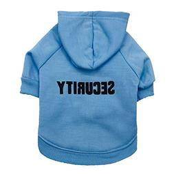 Security Dog Clothes Classic Pet Dog Hoodies Clothes for Sma