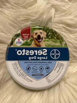 Seresto Flea and Tick Collar for Large Dogs, > 18 lbs, 8 Mon