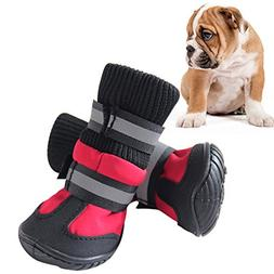 Patgoal 4Pcs/Set Winter Warm Pet Dog Waterproof Dog Boots No