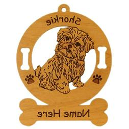 Shorkie Sitting Dog Breed Ornament Personalized With Your Do