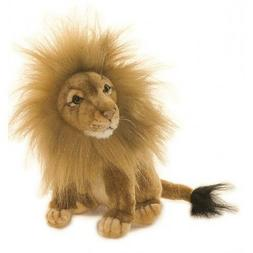 """Sitting Norfolk Lion Toy Reproduction Hansa, 8"""" tall"""