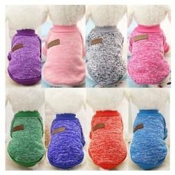 Small Dogs Soft Pet Dog Sweater Chihuahua Jumper Pullover Pe