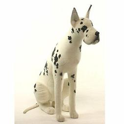 Hansa Soft Harlequin Dog Toy Marble Plush Toy Stuffed Animal