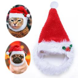 Soft Plush Christmas Santa Hat for Dogs Pets Holiday Fun Cos
