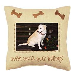 Spoiled Dog Lives Here Photo Sayings Pillow -Home Decor