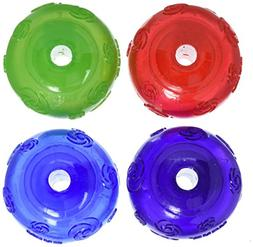 KONG Squeezz Ball Medium Assorted Colors Green, Red, Blue, P