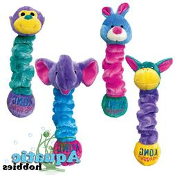 Kong Squiggles Squeak & Stretch Plush Fetch Toy for Dogs & P