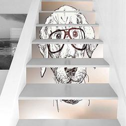 Stair Stickers Wall Stickers,6 PCS Self-adhesive,Modern,Cute