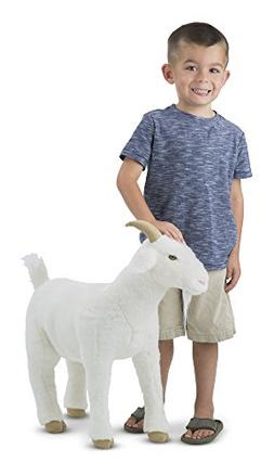 Melissa & Doug Standing Lifelike Plush Goat Stuffed Animal,