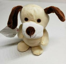 Stuffed dog 8 inch Sits up