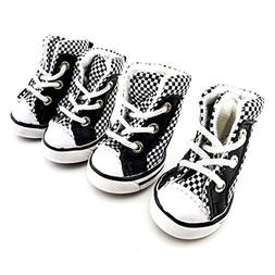 SMALLLEE_LUCKY_STORE Girls Boys Summer Plaid Canvas Lace up