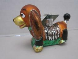 *Toy Coil Dog* Dachshund Slinky Old World Christmas Glass Or