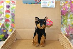 Ty Beanie Baby BB 2.0 ~ TROOPER the Doberman Dog ~ MINT with