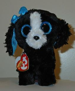 Ty Beanie Boos - TRACEY the Black & White Dog  NEW - MINT wi