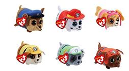 "TY Paw Patrol 4"" Beanie Boos! Plush Figures 6 Pc Set - Skye,"