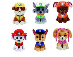 "TY Paw Patrol 13"" Plushes 6 Pc Set - Zuma, Rocky, Rubble, Ma"