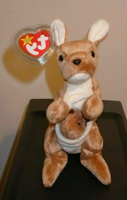 TY POUCH the KANGAROO BEANIE BABY -  with MINT TAGS 1996