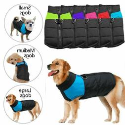 Waterproof Pet Dog Clothes Winter Warm Padded Coat Pet Vest