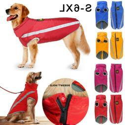 Waterproof Pet Dogs Clothes Autumn Winter Warm Padded Coat V