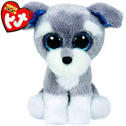 """Ty Beanie Boos 6"""" Whiskers The Grey Schnauzer Dog Gift Colle"""