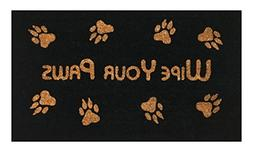 Wipe Your Paws Coir Doormat by Castle Mats, Size 18 x 30 inc