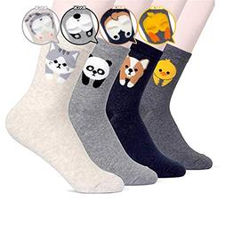 BALMOA Women Socks Gift Set - Animal Cat Dog Art Cartoon Cha