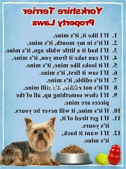 YORKSHIRE TERRIER Property Laws Magnet Personalized With You
