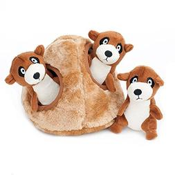 ZippyPaws Zoo Friends Burrow, Interactive Squeaky Hide and S