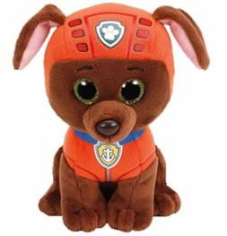 "Zuma Dog 6"" Ty Beanie Boos Puppy Glitter Big Eyes Plush Stuf"